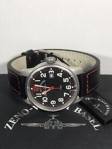 ZENO-WATCH BASEL Classic Pilot Swiss Men's Date Quartz Watch 3315Q 5ATM 40mm