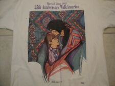 Vintage Native American Indian March Of Dimes 1995 25th Anniversary T Shirt XL