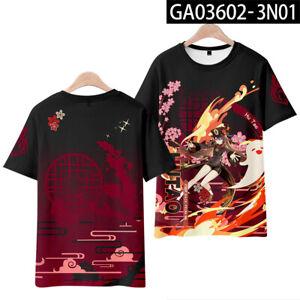 Genshin Impact Game T-Shirt Casual Summer Round Neck Short Sleeve Tee Tops N22