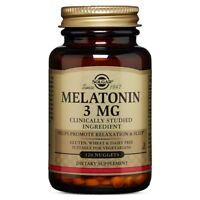 Solgar Melatonin 3 mg 120 Nuggets FRESH Made In USA, FREE US SHIPPING
