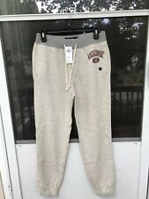 $68 Abercrombie Fitch AF Mens Gray VARSITY LOGO SWEATPANTS SIZE XS