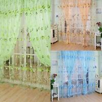 Floral Tulle Voile Door Window Curtain Drape Panel Sheer Scarf Valances 79*39''