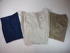 Roundtree Size 52  Khaki Beige Classic Fit Pleated Elastic Waist Shorts $44(38)