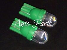 (2) Xenon Green 1-LED 168 921 657 T10 LED Bulbs For Car Interior Exterior Use