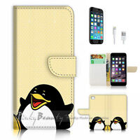( For iPhone 7 ) Wallet Case Cover P1151 Penguin