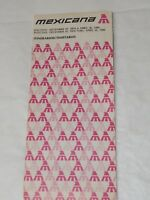 MEXICANA Airlines TIMETABLE 1980