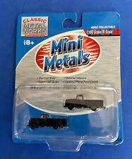 CMW 50272 N-Scale  Mini Metals '54 Ford F-350 Pickups (Set of 2) - Raven Black