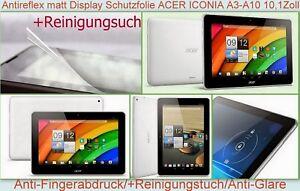 """2x Antireflex matt Display Schutz Folie für Acer Iconia Tab A3-A10 A3-A11 10.1"""""""