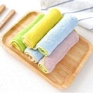 Kitchen Washing Cloths Dishcloths Rags Towel Fiber Home Cleaning Wiping 1pc New