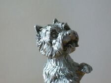 Faithful Friends Westie West Highland White Terrier Begging Pewter Uk