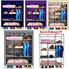 Portable Closet Garment Storage Wardrobe Organizer Clothe Rack Heavy Duty 53/69