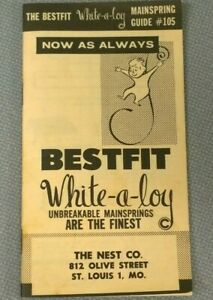 Bestfit White-A-Loy Mainspring Guide - Watchmaker Bench Repair Tool