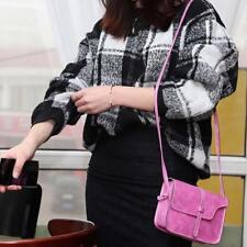 Elegant Women Girls Vintage Solid Bag Leather Cross Body Shoulder Messenger Bag