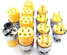 6pc Male & 6pc Female Extension Cord Replacement Electrical Plugs 15AMP 125V End