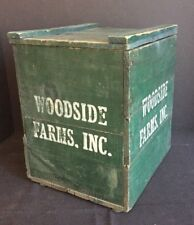 Antique Wooden Milk Crate Box Advertising Woodside Farms Dairy Newark, DE