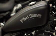 Harley Davidson Iron Tank Aufkleber in Silber Met. 20 ×6 cm.Top Neu 2 Stück