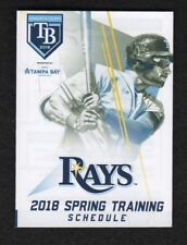 Tampa Bay Rays 2018 Spring Training Pocket Schedule featuring - Kevin Kiermaier