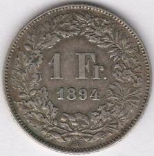 More details for 1894 switzerland 1 franc | european coins | pennies2pounds
