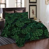 Pearl Palm Leaf 3D Printing Duvet Quilt Doona Covers Pillow Case Bedding Sets