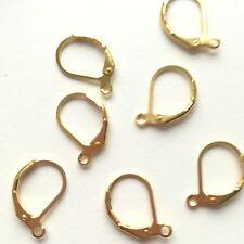 Sterling Silber Gold Überzogen Ohrringe Sicherheit Ohrhaken 20x11mm