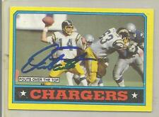 1986 Topps Football Dan Fouts Autographed Chargers Team Card JSA Certified (CSC)