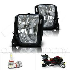 For 13-18 Dodge Ram Replacement Fog Lights w/Wiring Kit & C6 LED Bulbs- Clear