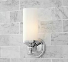 Pottery Barn Mercer Single Tube Bathroom Wall Sconce Polished Nickel