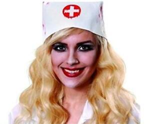 Henbrandt Blood Splashed Stained Nurses Hat Halloween Horror Accessory