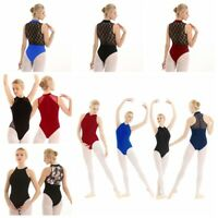 Women Ballet Gymnastics Skate Leotard Dress Bodysuit Unitards Dance wear Costume
