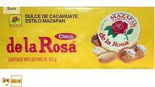 Mazapan De La Rosa Peanut's Confection 60-pc box 1-lb 10-oz  MEXICAN CANDY Small