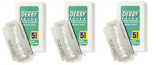 Derby Extra Double Edge Razor Blades, 5 Count (3 Pack)