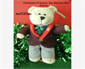 STARBUCKS Christmas Boy Bearista Bear 2017