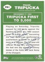 2009 Topps Flashback Signed Frank Tripucka Denver Broncos Football Card FB-1