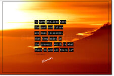 ALAN WATTS QUOTE ART PHOTO PRINT POSTER NO 2 - 12 X 8 INCH (A4) TOP QUALITY