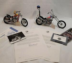 Easy Rider Ultimate Chopper Cpt America & Billy Bike 1:10 Harley Davidson Boxed