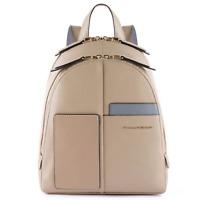 Piquadro Echo Zainetto donna 2 scomparti porta ipad pelle sabbia CA4327W100 SA