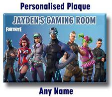 Fortnite Door Name Plaque Sign bedroom boy kids child gamer gaming gift 5 Xmas