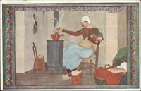 Rie Cramer Nursery Rhyme Fairy Tale Roe Roe Kindje c1920 Postcard