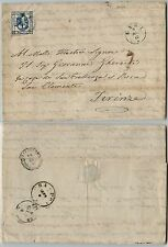 REGNO 15c Litografico(13) II tipo-Lettera Lari->Firenze 9.9.1863