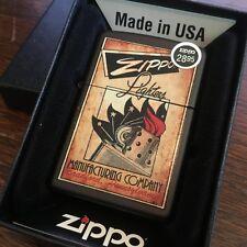 Zippo 218 VINTAGE ZIPPO POSTER Advertisement Full Size Windproof New Lighter