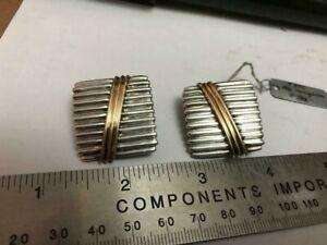 Vintage RIGOBERTO 925 & 14K Clip Earrings BEAUTIFUL!