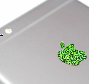 Green Glitter Color Changer Overlay for Apple iPhone 7 and 7 Plus Logo Decal