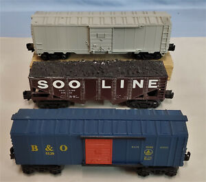 LOT 3 FREIGHT CARS KLINE BOXCAR, IMD HOPPER, IMD UNMARKED BOXCAR...........TK
