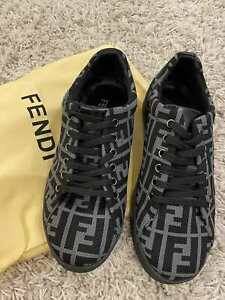 men`s FENDI Sneakers shoes black gray Size us 8.5 eur 42