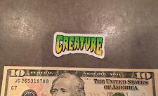 "Creature Logo Skateboards 1"" X 2"" Sticker Decal Green Skate Punk Snow"
