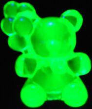 Green Vaseline glass Patrick Balloon Teddy Bear uranium birthday animal neon art