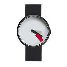 "Projects Watches ""Suprematism Red"" Acero IP Negro Blanco Silicon Reloj Unisex"
