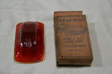 NOS Tail light lamp lens vintage 1940 Plymouth stadium Ruby Glass No.926