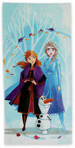 New Disney Frozen II 58 x 28 Beach Towel Anna Elsa Olaf 100% Cotton Ships Free