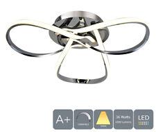 AUROLITE LED Semi-Flush Ceiling Light, Dimmable, Polished Chrome, Warm White